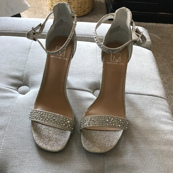 bc546e6abc4 Gorgeous New Material Girl Shimmer Glitz Sandals
